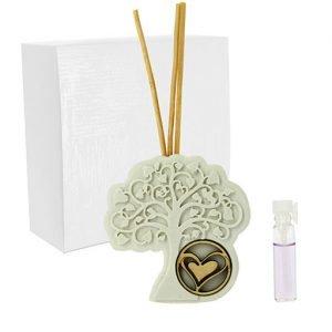 Profumatore albero della vita Dolciose realizzato in polvere di marmo e legno. Bellissimo significato di amore vita e famiglia, ideale per lasciare un ricordo indelebile nei vostri invitati. Ideale per bomboniera Matrimonio.