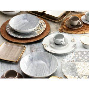 Servizio di piatti 18 pezzi Teak