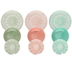 Servizio tavola 18 pezzi Gipsy Soft è realizzato in porcellana di alta qualità. I decori richiamano lo stile rustico italiano: fresco e vivace. Utilizzabili in microonde, lavabili in lavastoviglie.\