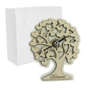 Orologio albero della vita realizzato in polvere di marmo e legno. Bellissimo significato di amore vita e famiglia, ideale per lasciare un ricordo indelebile nei vostri invitati. Ideale per bomboniera Matrimonio.