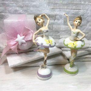 Bomboniera ballerina, eleganti statuette realizzate in resina ideali per realizzare anche bomboniere battesimo femminuccia.