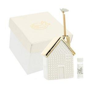 Bomboniera profumatore Home Gold realizzato in ceramica. Ideale per lasciare un ricordo indelebile nei vostri invitati. Ideale per bomboniera Matrimonio.
