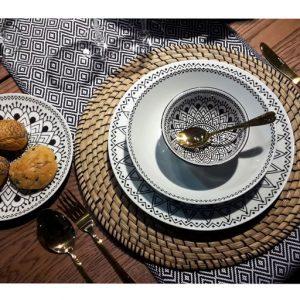 Servizio tavola 18 pezzi Tribal Chic