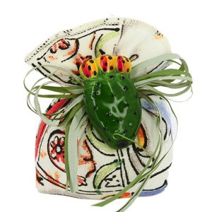 sacchetto portaconfetti fico d'india tema sicilia