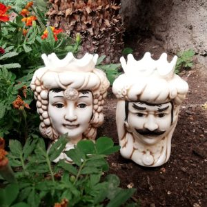Bomboniere teste di moro, realizzate in ceramica decorate dipinte a mano
