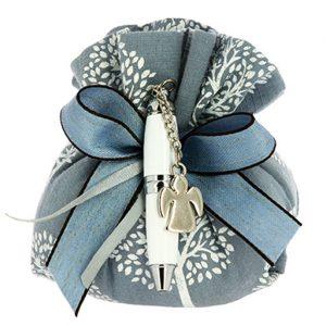 sacchetto portaconfetti matrimonio con angioletto