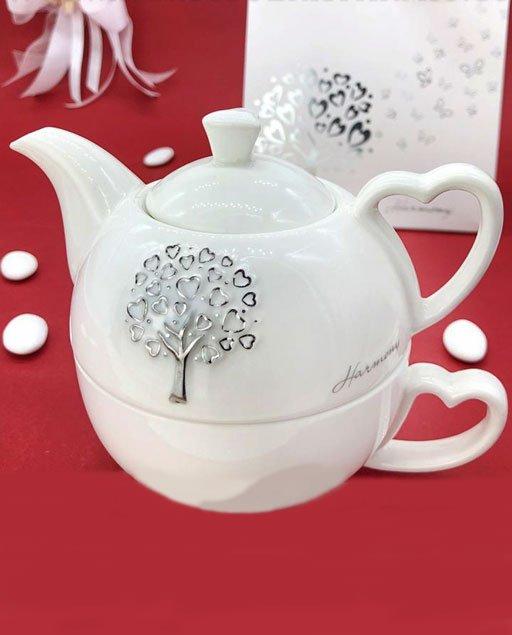 Teiera con tazza incorporata