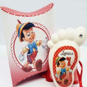 Bomboniera piedino Disney Pinocchio e scatola