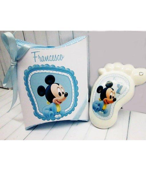 Bomboniera piedino Disney Topolino baby