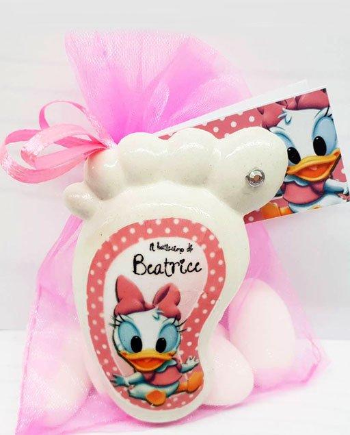 Bomboniera piedino Disney Paperina baby