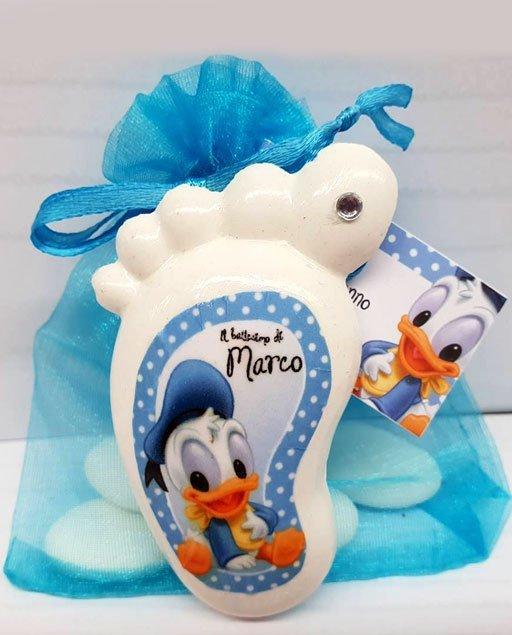 Bomboniera piedino Disney Paperino baby