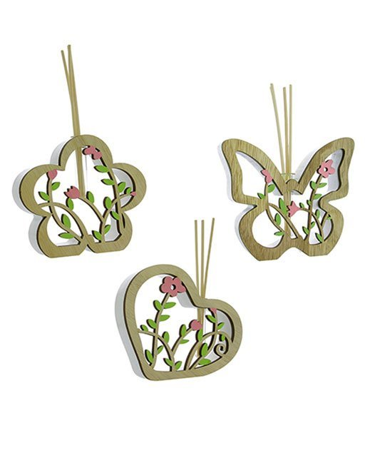 bomboniera profumatore farfalla cuore fiore