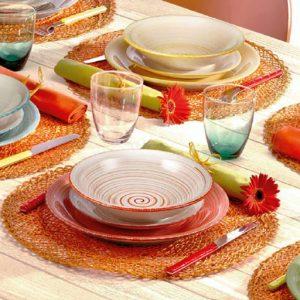 Servizio di piatti Fantasia Tognana realizzati in porcellana