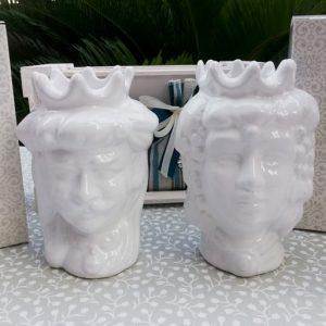 Bomboniera testa di moro caltagirone, realizzate in ceramica decorate dipinte a man