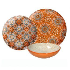 Servizio di piatti Curcuma Tognana realizzati in porcellana