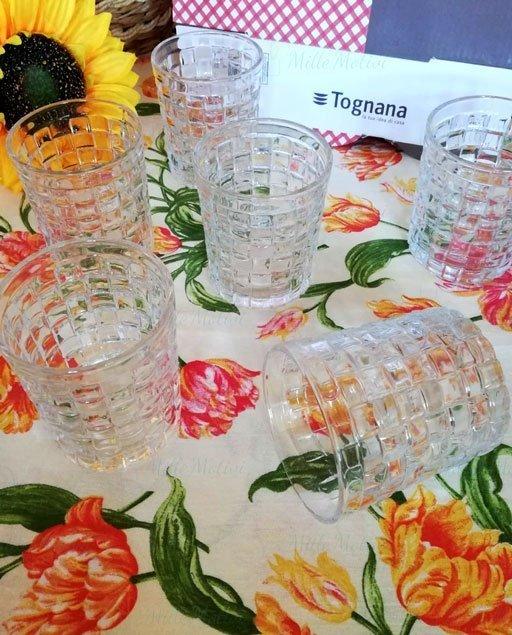 Bicchieri acqua tognana Nest della linea Glass è composta da 6 bicchieri.