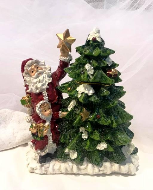 Babbo Natale Musicale.Decorazione Natalizia A Forma Di Babbo Natale In Ceramica Millemotivi