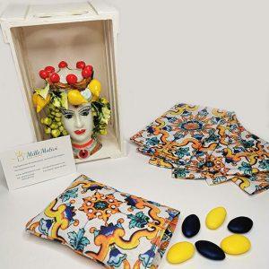 Sacchetto maiolica arancione, ideale per realizzare con semplicità e creatività.