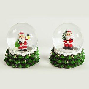 Ampolla natalizia realizzata in ceramica. Assortita in due varianti.