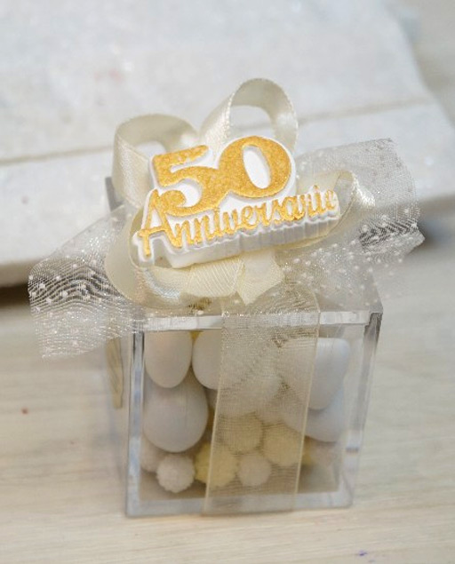Bomboniere 50 Matrimonio.Bomboniera Anniversario 50 Anni Di Matrimonio Nozze D Oro