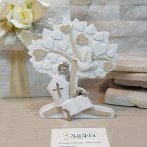 Bomboniera Albero della vita cuori Santa Cresima. Bellissimo significato di amore vita e famiglia, ideale per lasciare un ricordo indelebile nei vostri invitati.