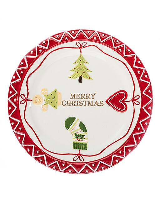 Piatto panettone Natale. Ideale per servire il panettone o dolci tipici natalizi, questo piatto porta l'atmosfera natalizia nella tua tavola.