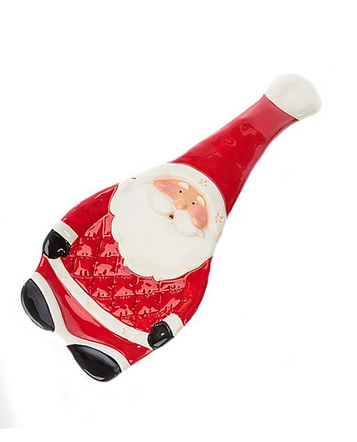 Poggiamestolo natalizio in ceramica. Bellissimo effetto per chi riceve questo bel regalo. Bomboniere utili.