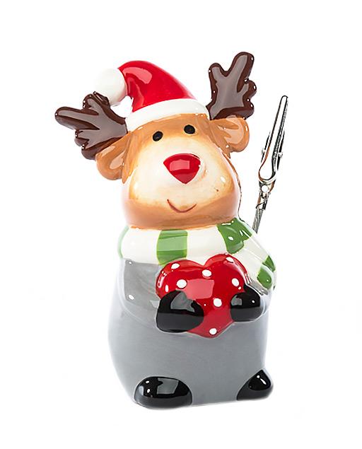 Renna natalizia in ceramica, un prodotto Made in Italy grazie al quale arricchire la tavola con raffinatezza, lucentezza e color