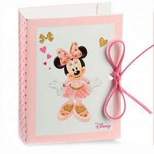 Cofanetti Disney Minnieper confetti realizzati in cartoncino rigido bianco e rosa