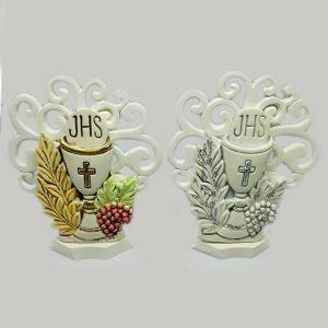 Albero della vita per prima comunione, realizzato in gres resinato, disponibile in due decorazioni: colorato e bianco