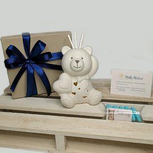 Profumatore orsetto led colore tortora bianco. Incluso nel prezzo scatolina originale
