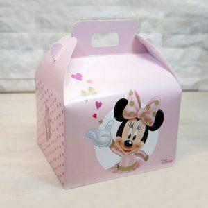 Valigetta Disney Minnie realizzati in cartoncino rigido bianco e rosa