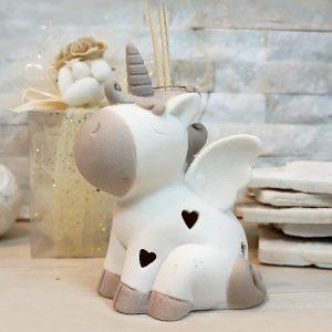 Profumatore Unicorno led colore tortora bianco. Incluso nel prezzo scatolina originale.