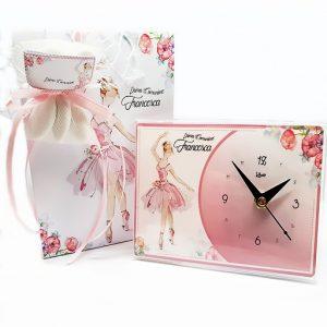 Bomboniera orologio ballerina danza classicapersonalizzabile con il vostro nome, o frase. Una bomboniera unica ed originale