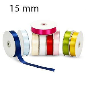 Nastro doppio raso mm 15 x 50 mt per confezionare la vostra bomboniera o dare un tocco finale ai vostri pacchetto regalo