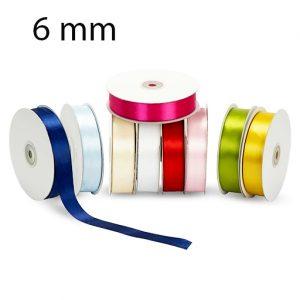 Nastro doppio raso mm 6 x 50 mt per confezionare la vostra bomboniera o dare un tocco finale ai vostri pacchetto regalo