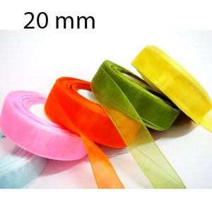 Nastro doppio raso mm 20 x 50 mt per confezionare la vostra bomboniera o dare un tocco finale ai vostri pacchetto regalo.