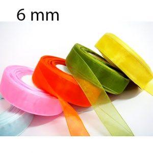 Nastro doppio raso mm 6 x 50 mt per confezionare la vostra bomboniera o dare un tocco finale ai vostri pacchetto regalo.