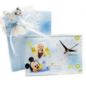 Orologio topolino Disney. Personalizzabilecon il vostro nome, o frase. Adatto per bomboniere battesimo, nascita, compleanno. Una bomboniera unica ed originale.