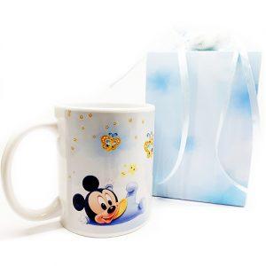 Tazza topolino Disney. Personalizzabilecon il vostro nome, o frase. Adatto per bomboniere battesimo, nascita, compleanno. Una bomboniera unica ed originale.