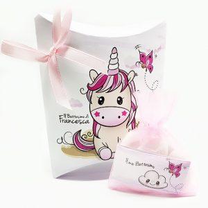 Scatolina portaconfetti Unicorno rosa. Personalizzabile con il vostro nome, o frase. I tuoi ospiti apprezzeranno senza dubbio,un idea originale.