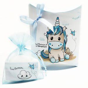Scatolina portaconfetti Unicorno cielo. Personalizzabile con il vostro nome, o frase. I tuoi ospiti apprezzeranno senza dubbio,un idea originale.