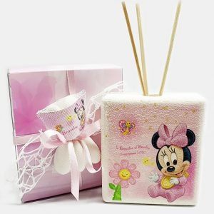 Bomboniera profumatore minnie Disney. Personalizzabilecon il vostro nome, o frase. Adatto per bomboniere battesimo, nascita, compleanno. Una bomboniera unica ed originale.
