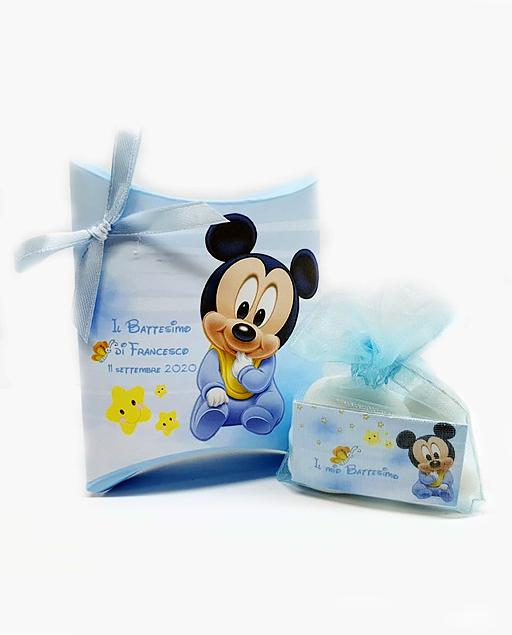 Scatolina portaconfetti Topolino Disney. Personalizzabilecon il vostro nome, o frase. Adatto per bomboniere battesimo, nascita, compleanno. Una bomboniera unica ed originale.